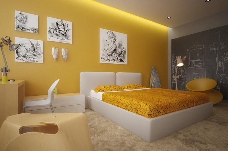 amarillo habitacion pigments vilanova